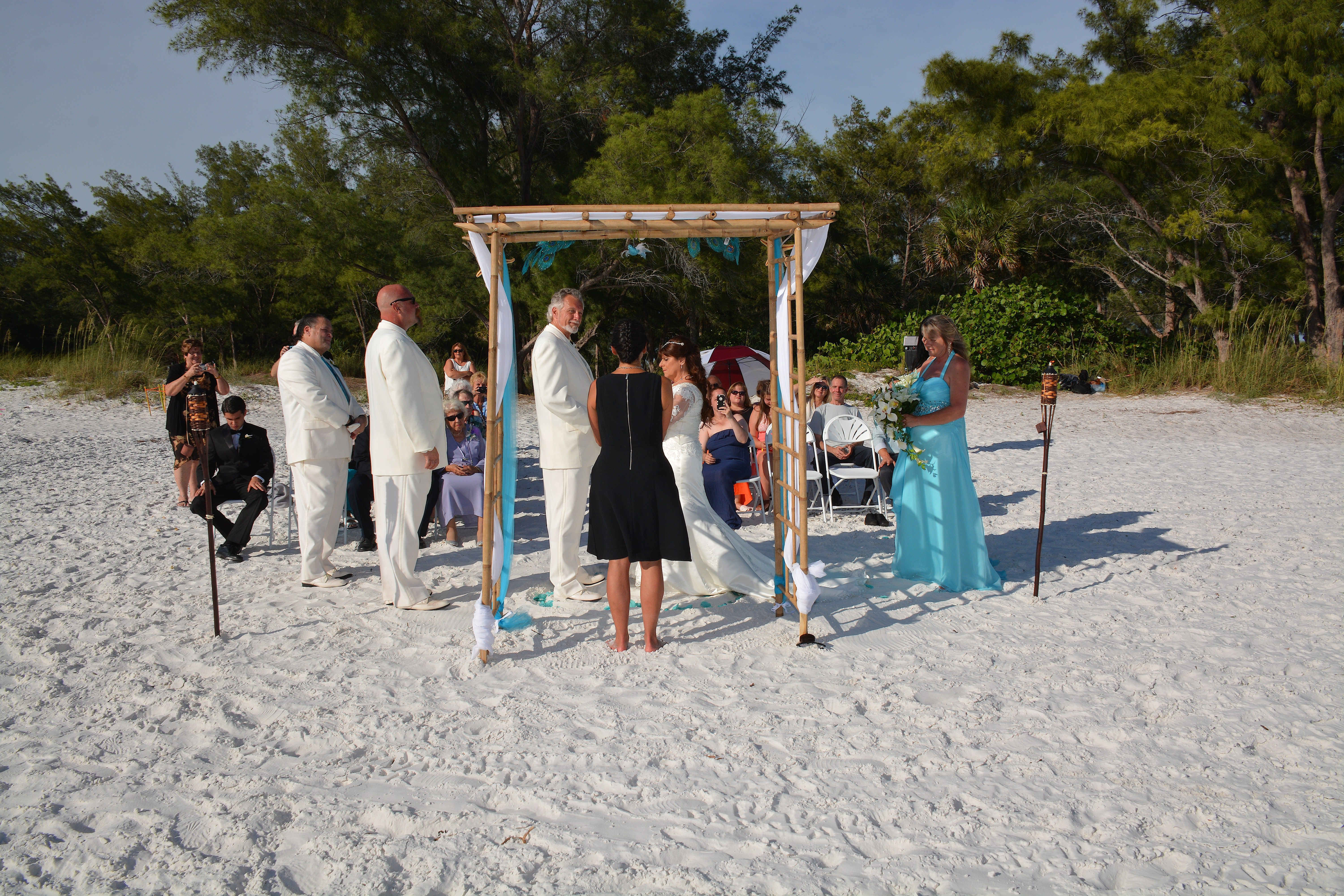 Coquina Beach Wedding Ceremony