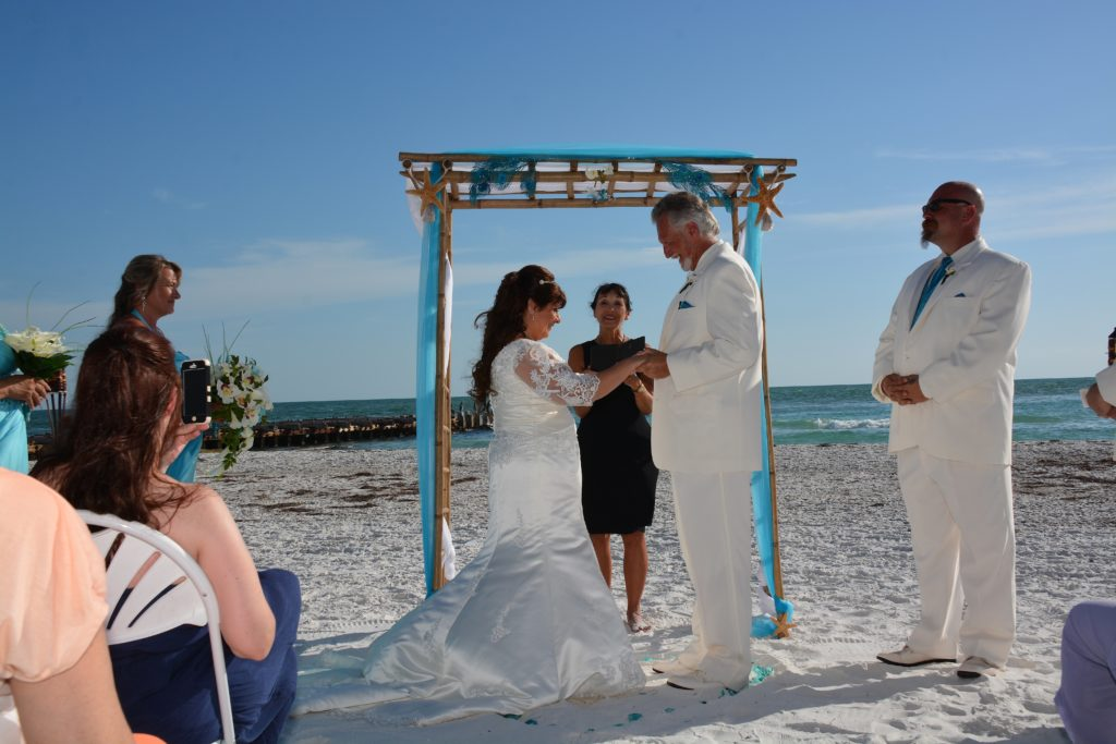 coquina beach wedding ceremony a beautiful wedding in