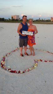 Surprise Vow Renewal Ceremony on Treasure Island Beach