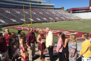 Game day wedding ceremony Tallahassee