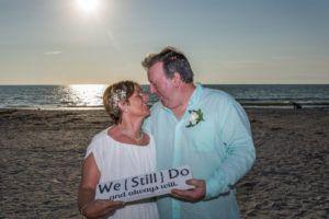 Lynn and Gary celebrating 39 year wedding vow renewal while visiting Florida from Ireland