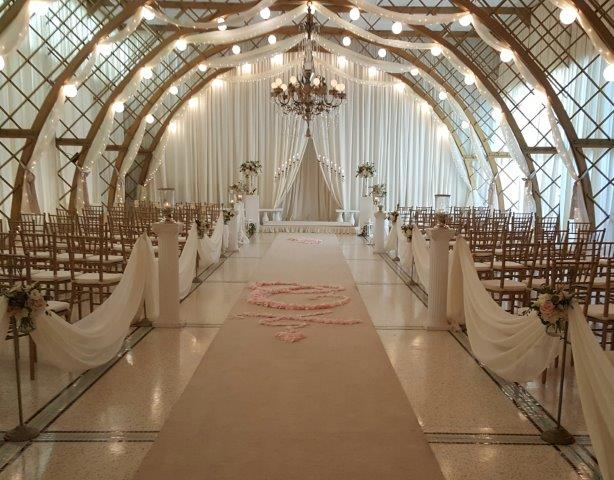 Romantic Wedding Ceremony at Kapok Special Events in Safety Harbor