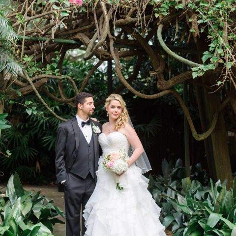 Kim & Felipe Sunken Gardens Ceremony