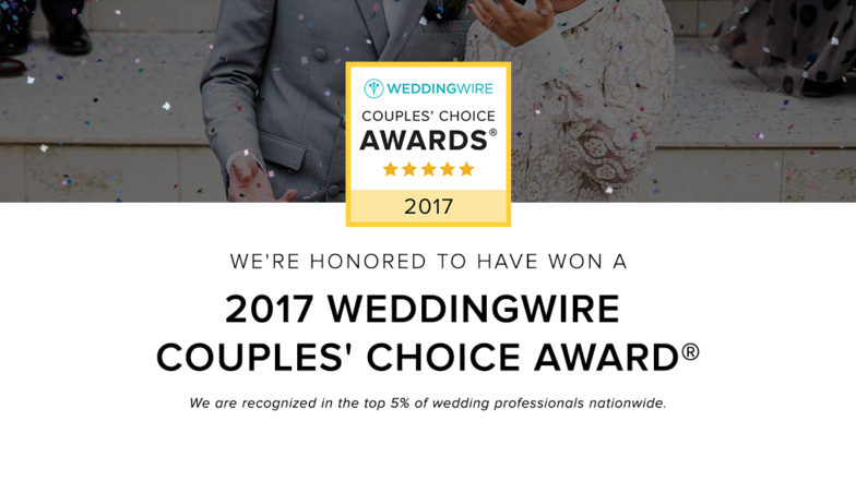 Tallahassee Wedding Officiant Awarded 2017 WeddingWire Couples Choice Award