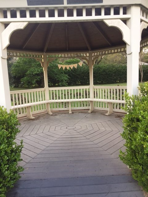 Wedding ceremony was held inside the gazebo.