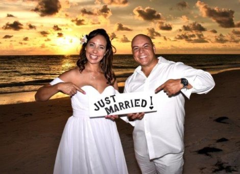 Surprise Coquina Beach Wedding Ceremony