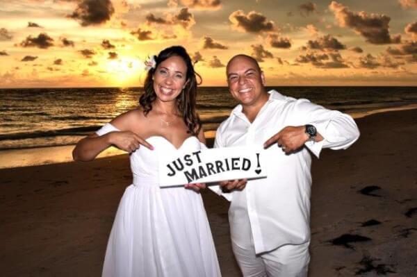 Surprise Coquina Beach Wedding Ceremony