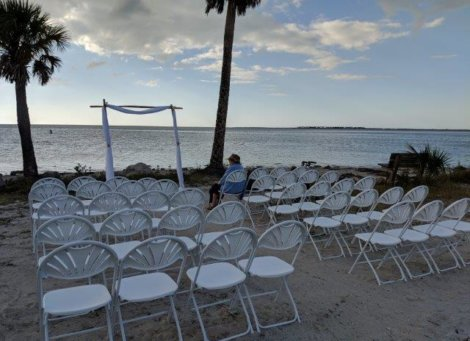 Wedding Ceremony Sunset Beach Tarpon Springs
