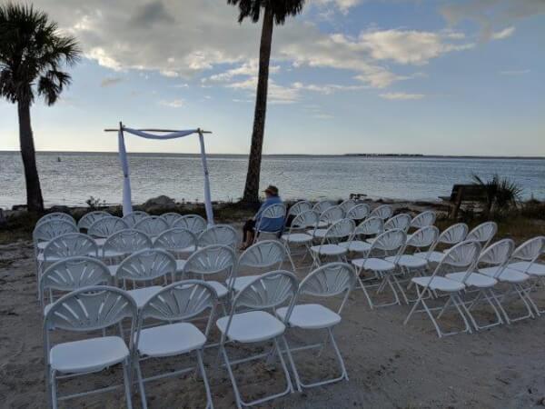 Wedding Ceremony Sunset Beach Tarpon Springs