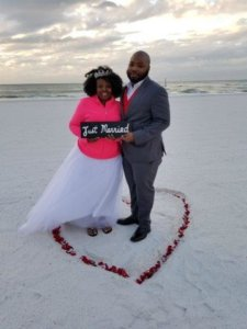 Clearwater Beach Winter Wedding Ceremony