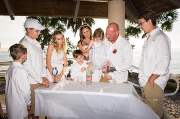 Unity Sand ceremony at clearwater wedding
