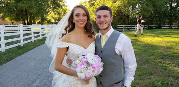 Wedding Ceremony at Southern Plantation Oasis in Lutz
